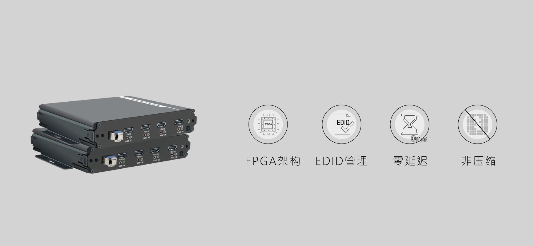HDMI单纤4路高清光端机