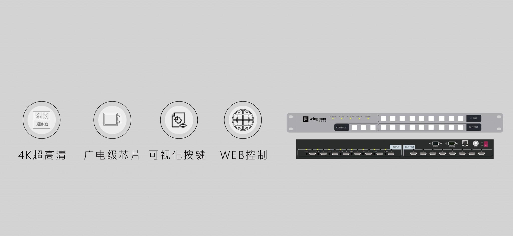 网络中控HDMI矩阵